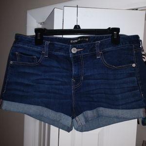 Express cuffed denim shorts 12